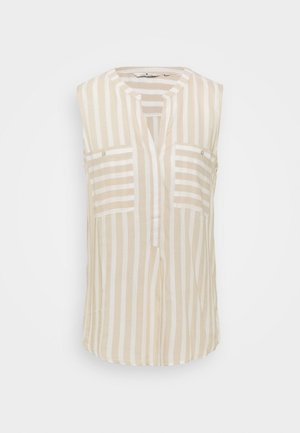 BLOUSE STRIPED - Blouse - beige/offwhite