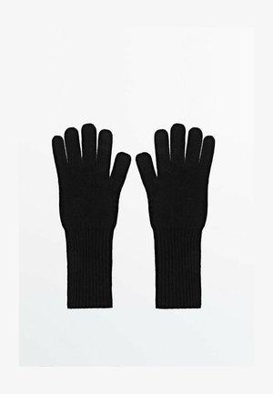 AUS WOLLE UND KASCHMIR  - Gloves - blue-black denim