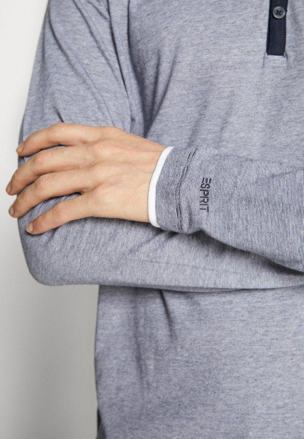 Esprit Bluzka z długim rękawem - navy/granatowy Odzież Męska MVJN