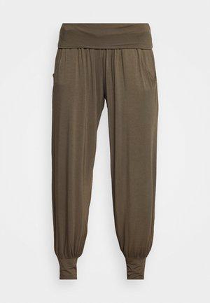 HAREM PANTS - Pantalones deportivos - olive green