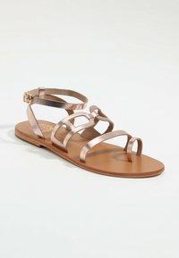 Les Bagatelles - AGHAVILLA - T-bar sandals - rose gold - 1