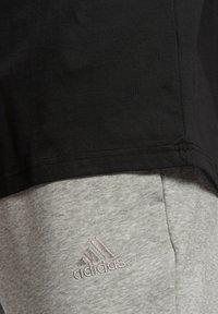 adidas Performance - ESSENTIALS BIG LOGO T-SHIRT - Print T-shirt - black - 5