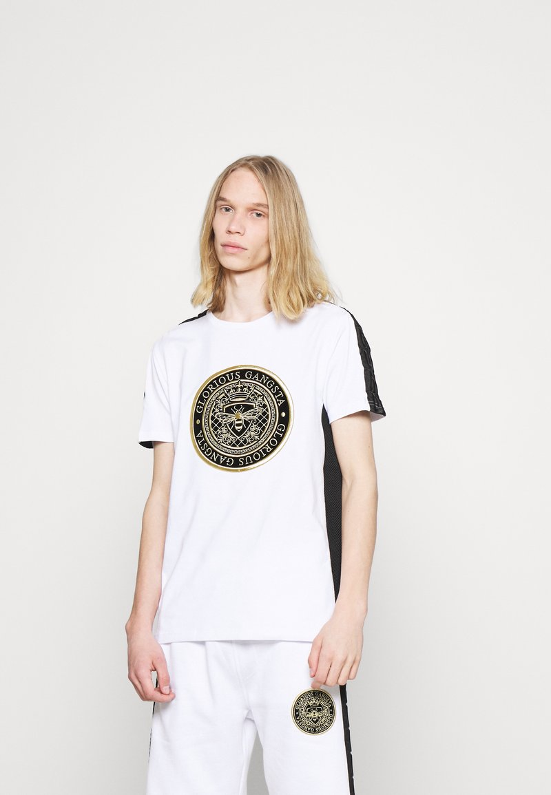 Glorious Gangsta - ALFARO TEE - Print T-shirt - optic white