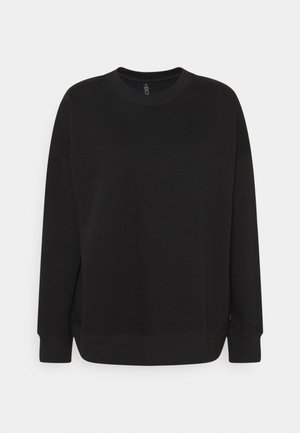 LONG SLEEVE CREW - Sweater - black