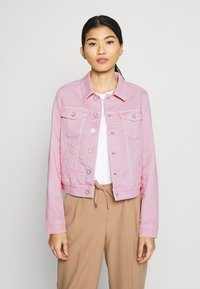 Marc O'Polo - JACKET BUTTON CLOSURE GARMENT DYED - Denim jacket - bleached berry - 0
