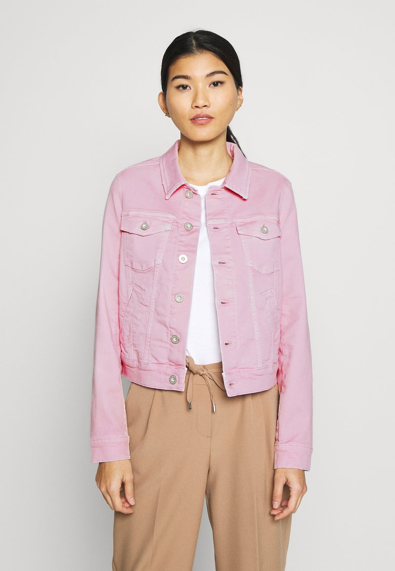 Marc O'Polo - JACKET BUTTON CLOSURE GARMENT DYED - Denim jacket - bleached berry