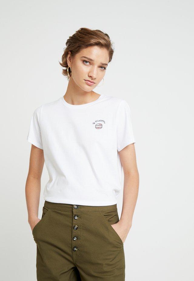 LE MACARON TEE - T-shirt con stampa - white/pink