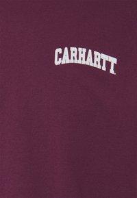 Carhartt WIP - UNIVERSITY SCRIPT - Print T-shirt - shiraz/white - 2