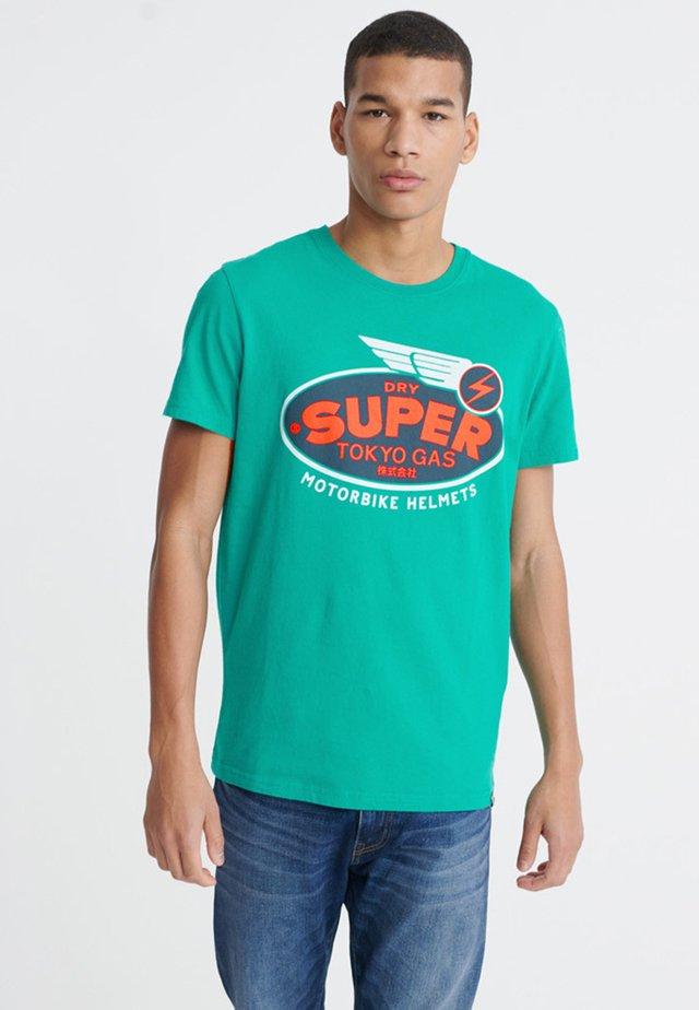 MILITARY - Print T-shirt - lapis