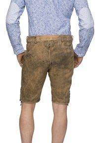 Stockerpoint - ARON - Kožené kalhoty - hanf gespeckt gelb - 2