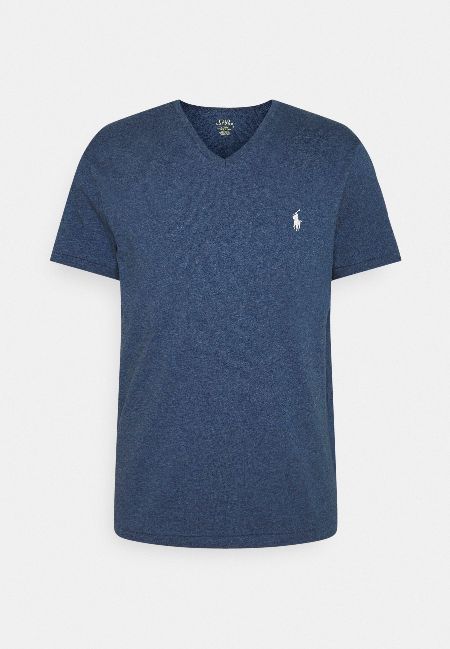 Herrer CUSTOM SLIM FIT JERSEY V-NECK T-SHIRT - T-shirts basic