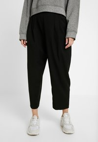 Monki - TERRY - Bukse - black dark - 0