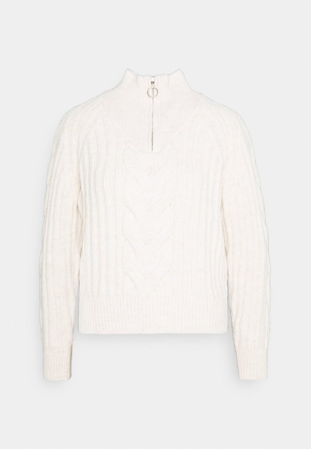 ONLNEW FREYA HIGHNECK ZIP - Jumper - whitecap gray melange