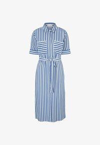 TOM TAILOR DENIM - Shirt dress - mid blue white stripe - 5