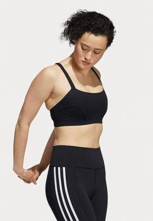 YOGA BRA - Light support sports bra - black/white
