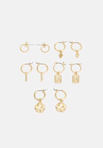 EARRINGS 5 PACK - Oorbellen - gold-coloured