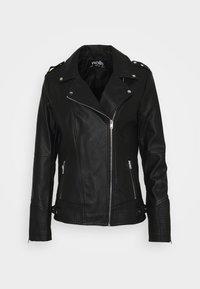 DARCEY BIKER - Faux leather jacket - black