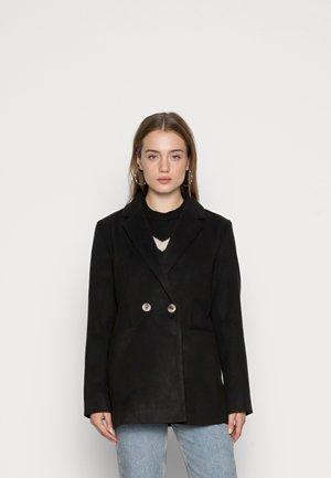 VIPOKU BUTTON SHORT COAT - Blazer - black