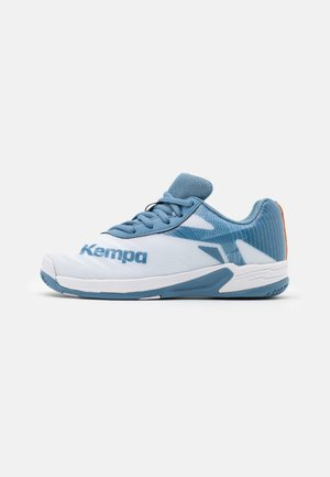WING 2.0 JUNIOR UNISEX - Handball shoes - white/steel blue