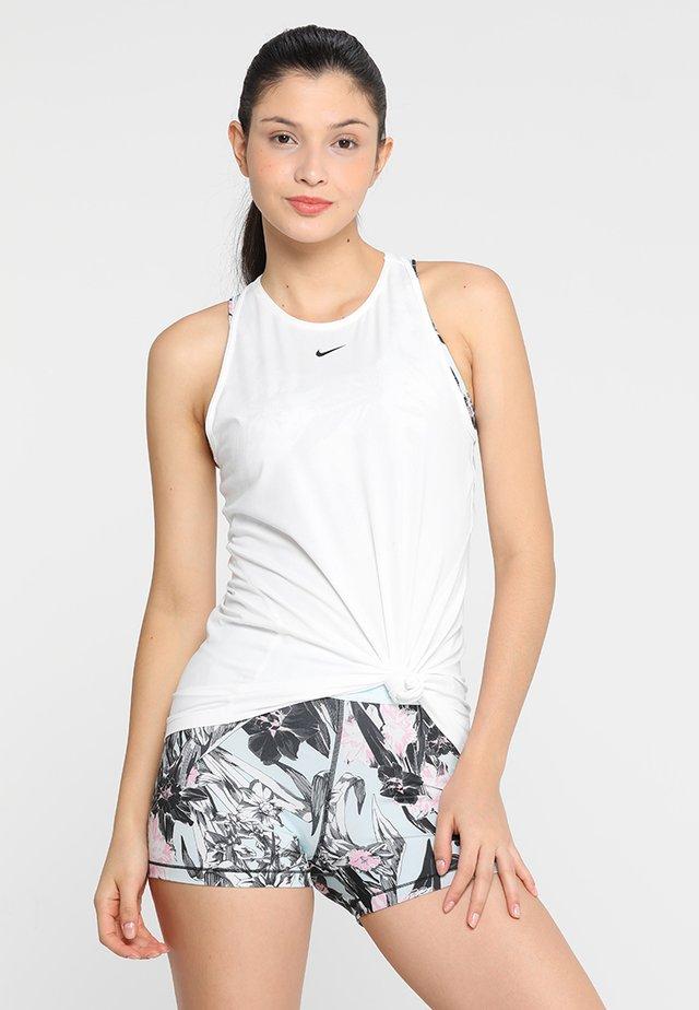 TANK ALL OVER  - Camiseta de deporte - white/black