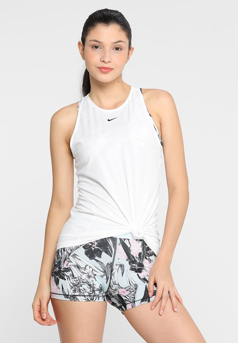 Nike Performance - TANK ALL OVER  - Sports shirt - white/black