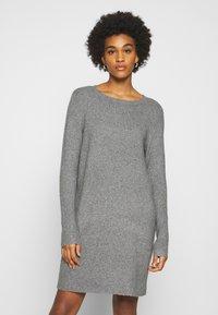 ONLY - ONLELENA DRESS - Jumper dress - medium grey melange - 0