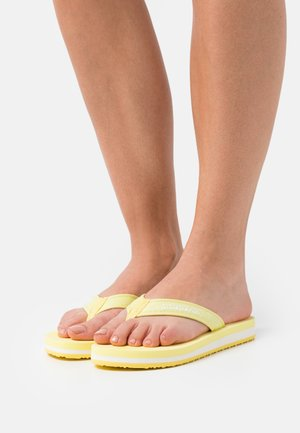 STICK - T-bar sandals - freesia yellow