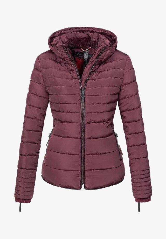 AMBER - Winter jacket - dark red