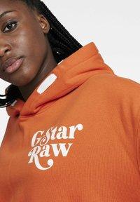 G-Star - PREMIUM CORE OVERSIZED HDD SW - UNISEX - Hoodie - acid orange - 3