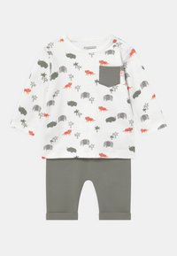 Staccato - SET - Trousers - off-white/khaki - 0
