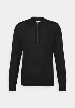 SHAWN ZIP - Pullover - black
