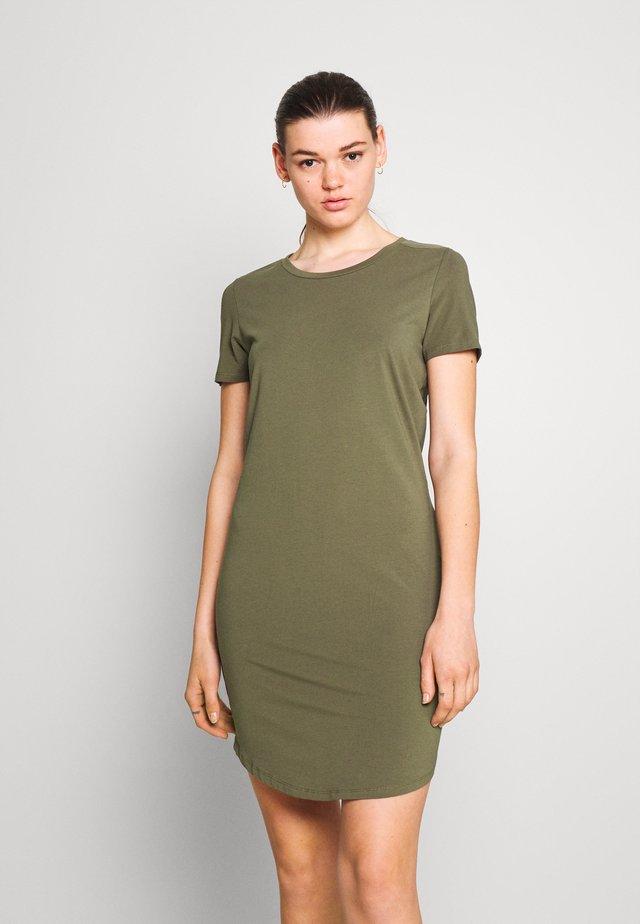 NMSIMMA DRESS - Vestido de tubo - kalamata
