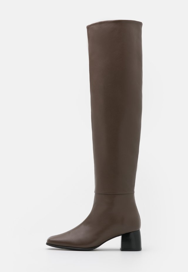 CAMILLE HIGH BOOT - Overknee laarzen - grey taupe