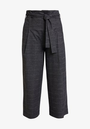 PAPER BAG WAISTBAND BELT - Trousers - check grey