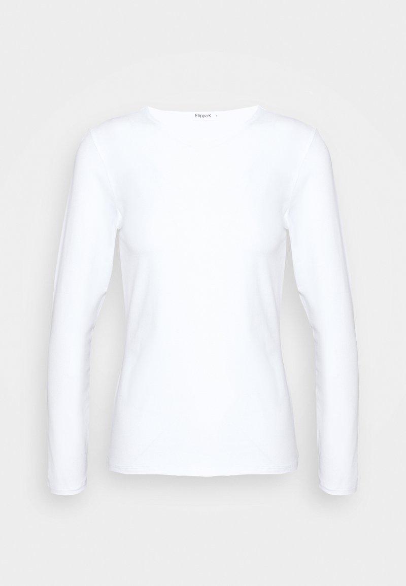 Filippa K - LONG SLEEVE - Long sleeved top - white