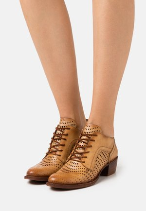 DRESA - Lace-up heels - tan