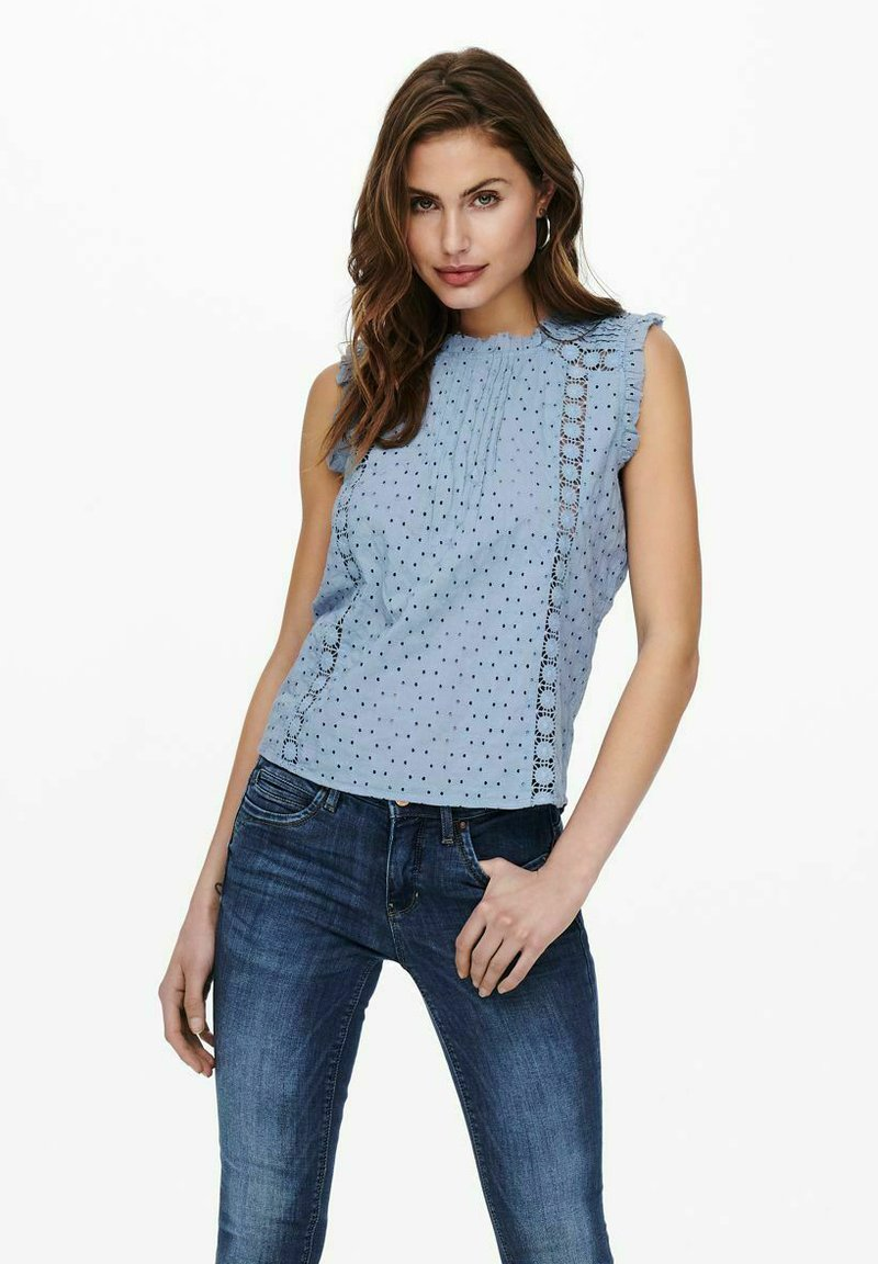 ONLY - Blus - faded denim