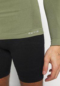 NU-IN - HALF ZIP LONG SLEEVE  - Long sleeved top - khaki - 7