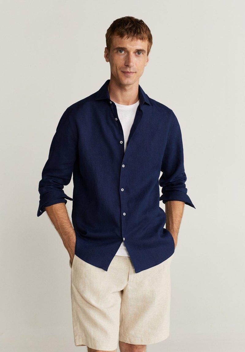 Mango - AVISPE - Shirt - dunkles marineblau