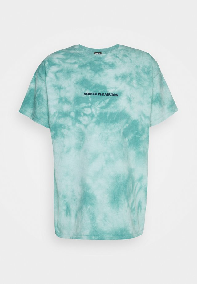 TIE DYE EMBROIDERED TEE UNISEX - T-shirt con stampa - mint