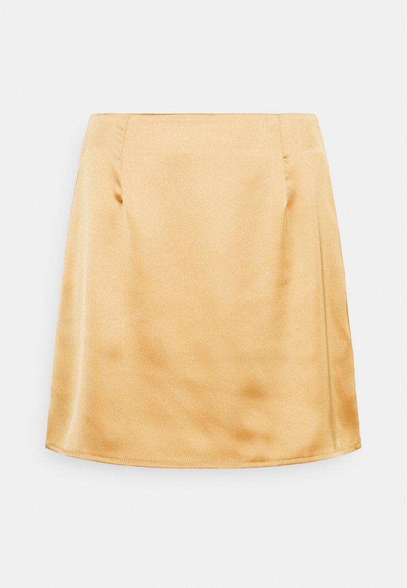 Missguided Petite - SKIRT - Mini skirt - stone