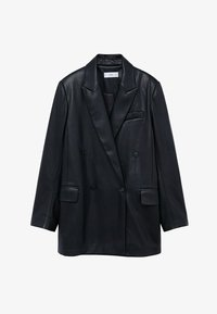 COMBI - Faux leather jacket - schwarz