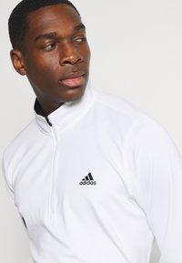 adidas Golf - Top sdlouhým rukávem - white - 4