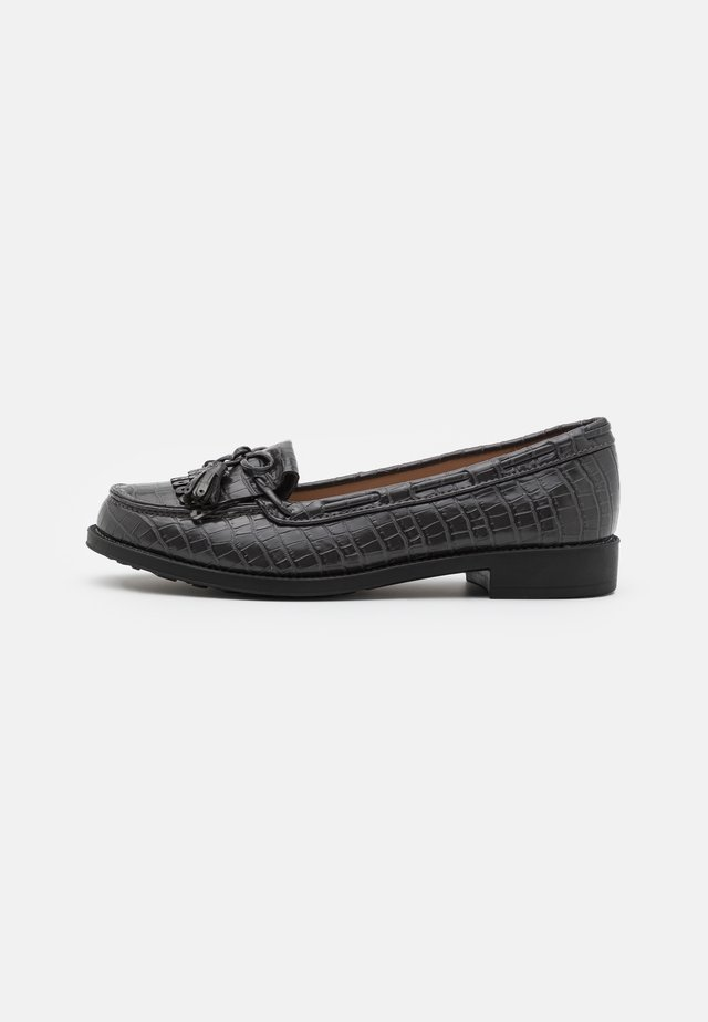 WIDE FIT LEXY TASSLE LOAFER - Scarpe senza lacci - grey