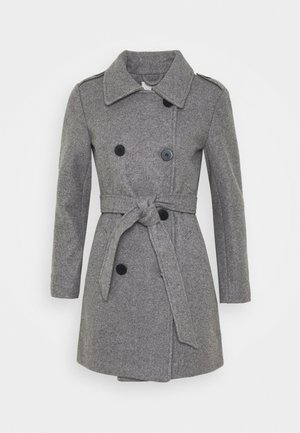 ONLSANSA COAT - Classic coat - dark grey melange
