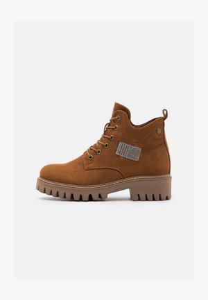 Lace-up ankle boots - amaretto/grau/rost