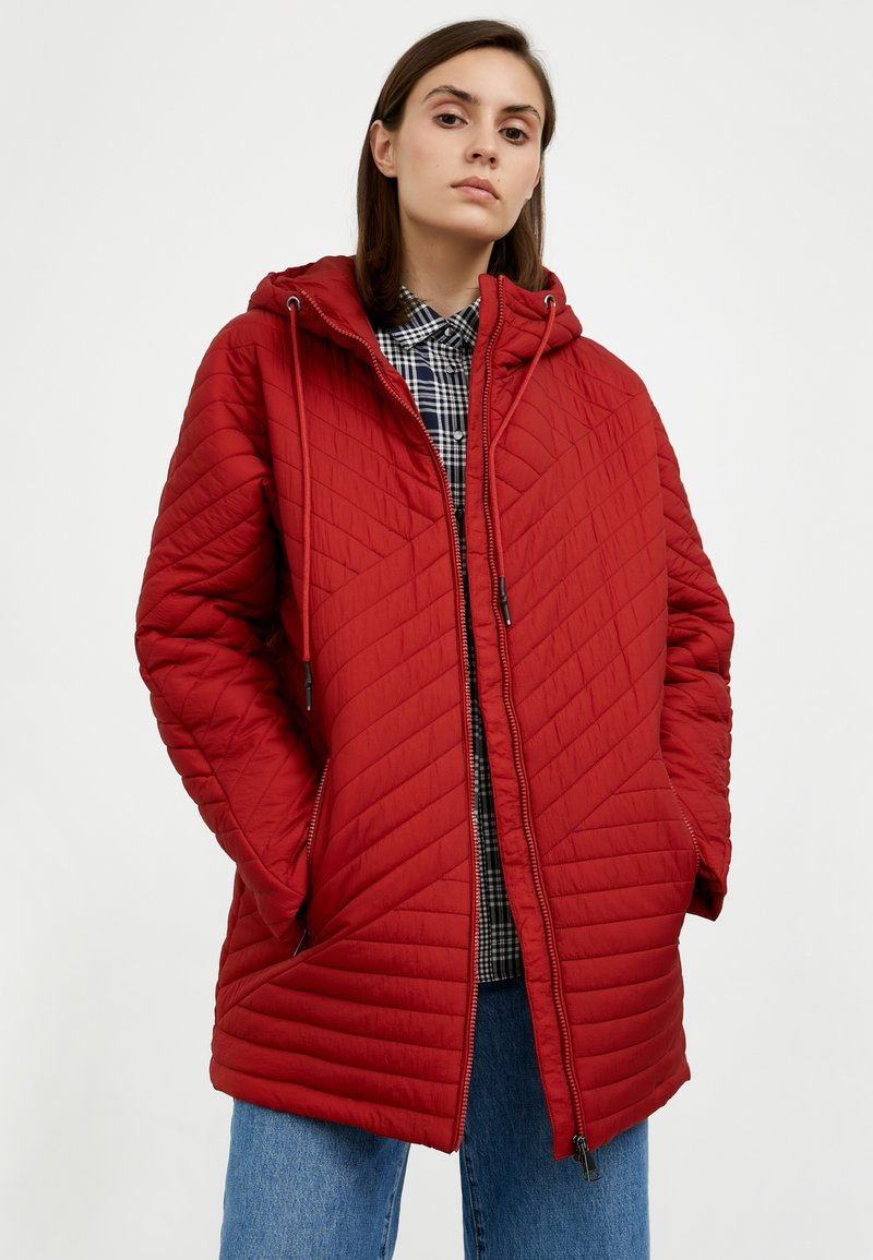 Finn Flare - Down jacket - red-brown