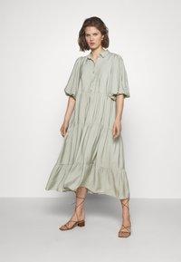 Gestuz - KIRITAGZ DRESS - Sukienka koszulowa - pale green - 0