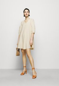 Bruuns Bazaar - SEER ALLURE DRESS - Day dress - sand/white check - 1