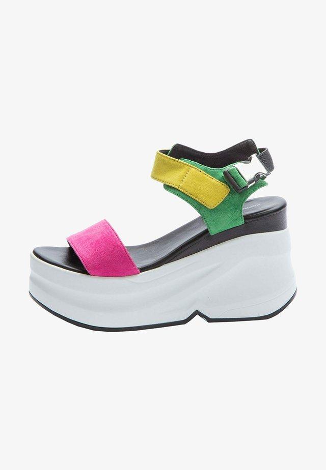 Sandales compensées - pink